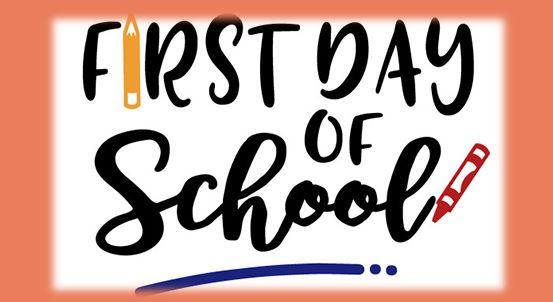 First day of school is Tuesday, September 3rd (for Grades 1-5)