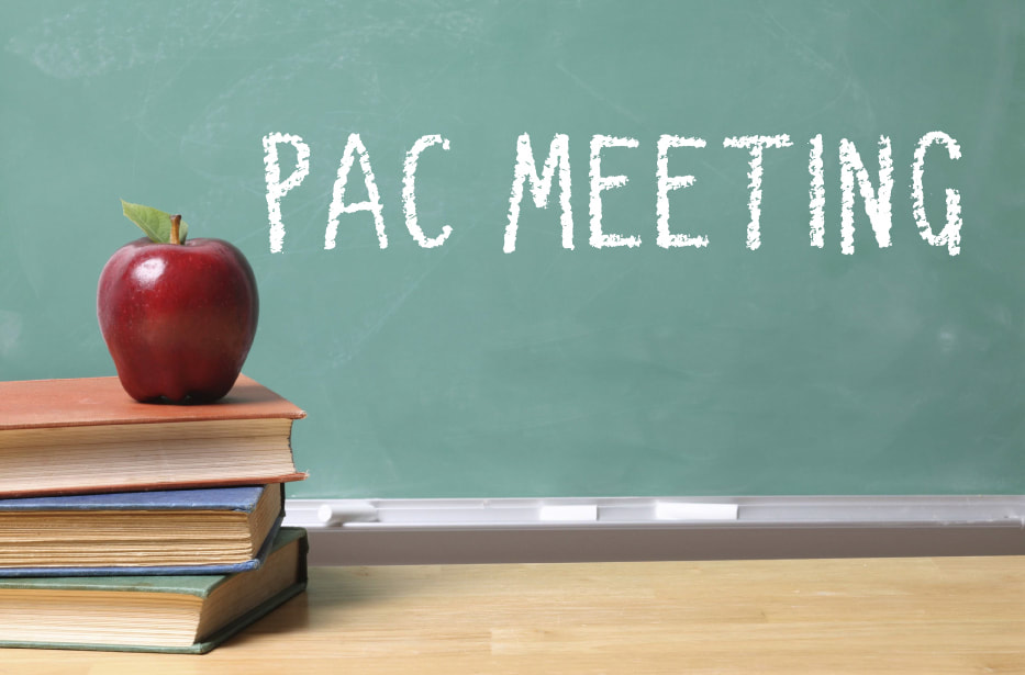 Next PAC Meeting, November 21st at 6:30 pm
